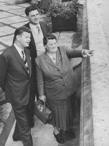 Benny Hill and Dave Freeman meet Bessie Braddock MP